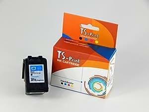 TS-Print® Druckerpatrone ersetzt HP 301 XL HP301 HP-301 CH563EE 20ml schwarz / black MIT FUNKTIONIERENDER FÜLLSTANDANZEIGE !!! NEU: zu allen Druckermodellen kompatibel die HP301 verwenden !!!
