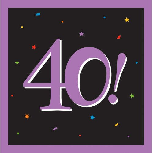 40th Milestone Beverage Napkins - 1