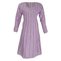 AKS Lucknow Women's Cotton Regular Fit Kurti