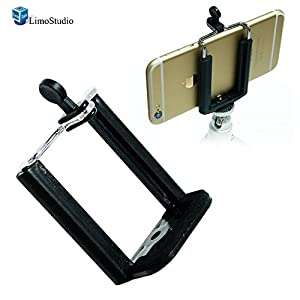 LimoStudio 2PC Monopod Tripod Mount Clip Cell Phone Holder for iPhone 6 5S 5C 5 4S 4 Samsung Galaxy S4 S3 , AGG1462