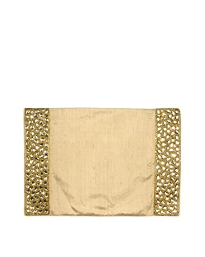 Aviva Stanoff Set of 2 Jewel Placemats, Gold