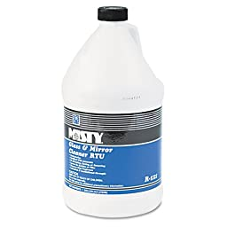 Misty Glass & Mirror Cleaner w/Ammonia, 1 gal. Bottle - four bottles of cleaner.