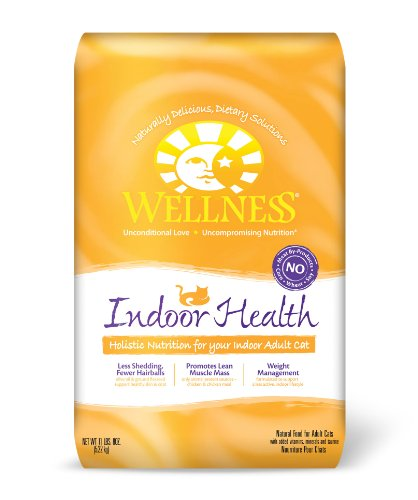 Wellness Dry Cat Food for Adult Cats, Indoor Health Formula, 11.5 Pound Bag