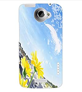 ColourCraft Lovely Scenery Design Back Case Cover for HTC ONE X