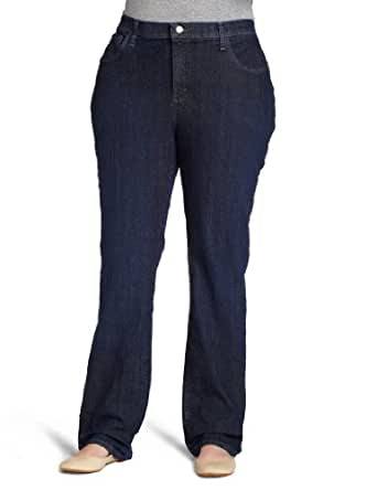 Lee Women's Plus-Size Classic Fit Marilyn Straight Leg Jean, Montego, 30/Medium