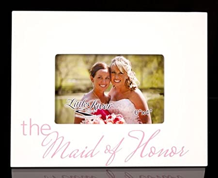 Little River Gift The Maid of Honor Picture Frame, 10 by 8-Inch, Holds 6 by 4-Inch Photo
