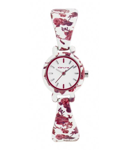 Kahuna Women's Quartz Watch with White Dial Analogue Display and White Bracelet