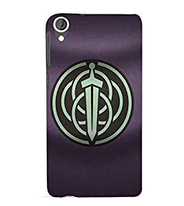 Fuson 3D Designer Back Case Cover For HTC Desire 820