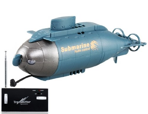 777-216 6-Channel 49MHz Radio Control Vertical Diving Floating RC Submarine (Grey) by Preciastore