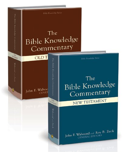 Bible Knowledge Commentary (2 Volume Set) (Bible Knowledge Series)