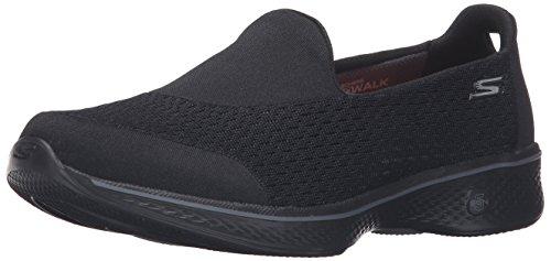 Skechers Performance Women's Go 4-14148W Walking Shoe, Black, 9 W US
