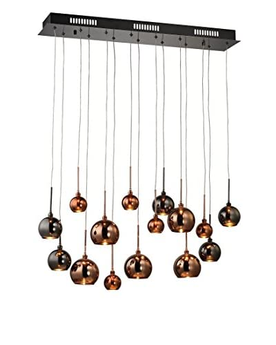Artistic Lighting Nexion Large 15-Light Chandelier, Black Chrome