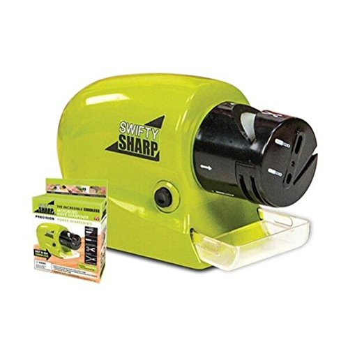 ONLADY Swifty Sharp Cordless Motorized Knife Blade Sharpener for All-Sized Household Knives Green (Motorized Knife compare prices)