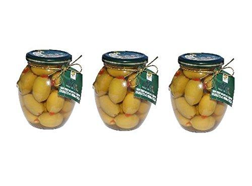 3x-oliven-grun-gefullt-mit-knoblauch-und-paprika-je-360g-glas-215g-abtropfgewicht-aus-griechenland-g