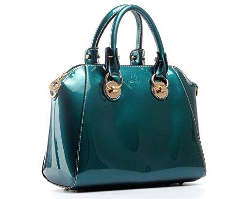 Szstudio European American Retro Pu Bag Womens Satchel Tote Handbag Shoulder Crossbody Shopper Bag