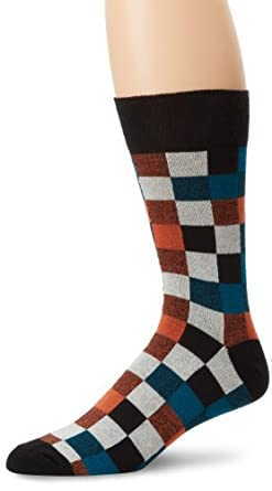 PACT Men's Crew Sock, Portland Plaid, One Size