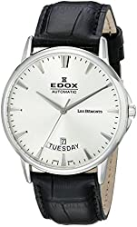 Edox Men's 83015 3 BIN Grand Ocean Analog Display Swiss Automatic Black Watch