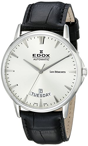 Edox Les Bémonts montre homme Day Date 83015 3 BIN