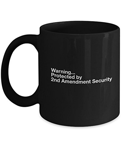 2nd Amendment Security Ceramic Coffee Mug (Black 15oz) The Right to Bear Arms (Right To Bear Arms Window Decal compare prices)