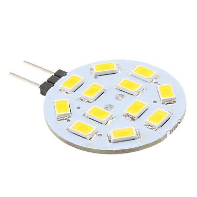 Luo G4 2W 12X5630Smd 220Lm 2700K Warm White Light Led Spot Bulb (12V)