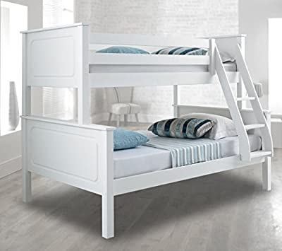 Happy Beds Vancouver Bunk Bed Triple Sleeper Solid Pine Frame Mattresses