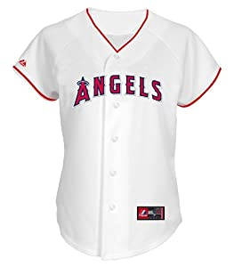 MLB Los Angeles Angels Ladies Mark Trumbo 44 Replica Collection Jersey, White Home by Majestic