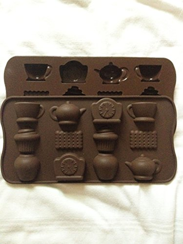 IT'S TEA TIME Ice Cube Chocolate Soap Tray Mold Silicone Party maker (Ships From USA)