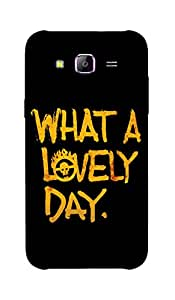 Back Cover for Samsung Galaxy A7 What a lovely Day