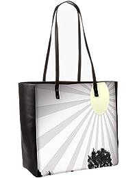 Sun Rays Obo, Shoulder Bag Tote Faux Leather Handbag Satchel Tote