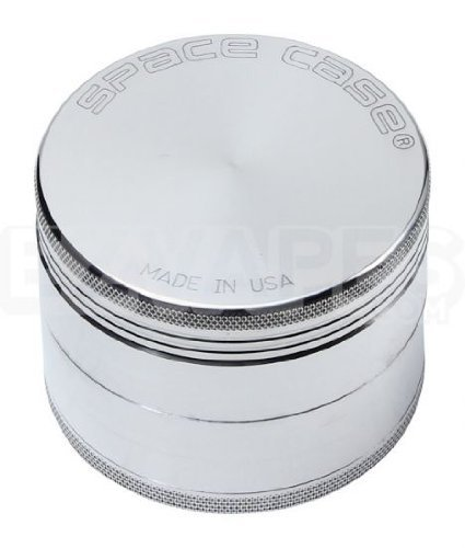 Space Case 4 Piece Aluminum Herb Grinder Large 90mm (Space Case 4 Piece Large compare prices)