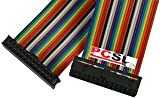 PCSL Brand - Rainbow GPIO Cable for Raspberry Pi ~ GPIO Interface Cable 10cm (100mm) - 26way IDC to 26way IDC