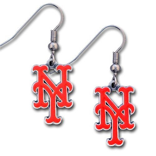 MLB New York Mets Dangle Earrings