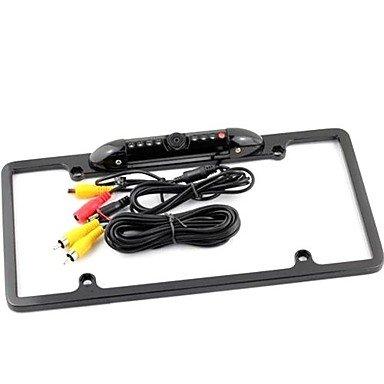 Commoon 1/4 Cmos Usa Metal License Plate Frame Car Rear View Camera Waterproof Anti-Shock