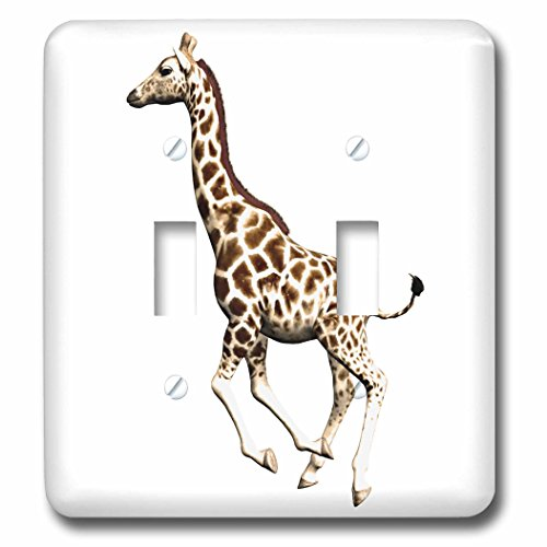 3dRose  lsp_62976_2 Giraffe Running 2 Double Toggle Switch