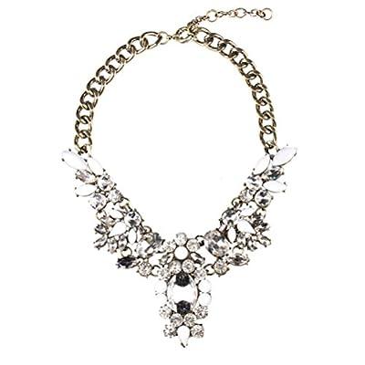 SunIfSnow Women Wings of Angel Shape Luxury Beige Crystal Gem Necklace