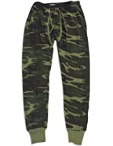 Indera - Mens Thermal Camouflage Long John Pant 812DR , Olive 27473-X-Large
