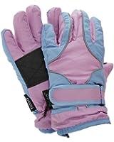 FLOSO® Childrens/Kids Girls Heavy Duty Waterproof Padded Thermal Ski/Winter Gloves