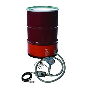 BriskHeat DHCX131000T3 DHCX Hazardous-Area Rated Drum Heater For T3 Rated Environments, Fits 30-Gallon Drums, W x L: 8 x 58.5-Inch, Diameter: 18.6-Inch, 120VAC