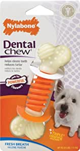 Nylabone Dental Chew Small Fresh Breath flavored Pro Action Bone Dog Chew Toy