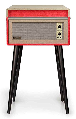 Crosley CR6233A-RE Dansette Bermuda 2-Speed USB Turntable (Red)