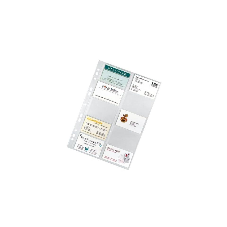 Veloflex 5341000 Visitenkartenhüllen Din A4 20 Karten Pro