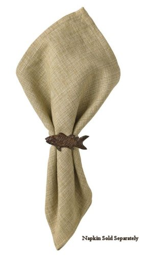 Lake House Cabin Style Fish Napkin Rings