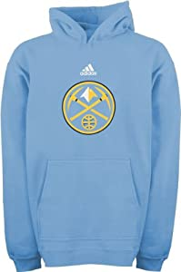 Denver Nuggets adidas Youth Primary Logo Hooded Sweatshirt by adidas