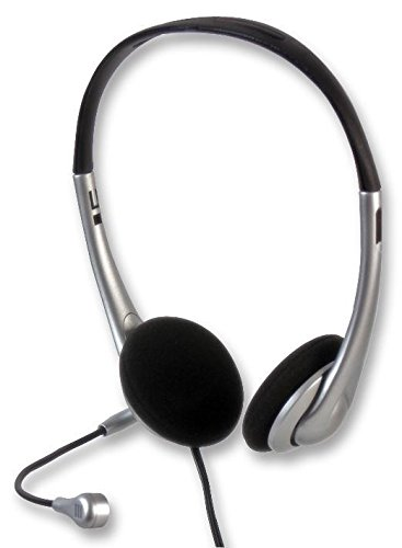 PC Stereo-Headset mit Mikrofon / Kopfhörer für Skype Computer Über Ear-Design Lautstärkeregelung Flexible Mic / iCHOOSE