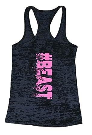 Amazon.com: Strong Girl Clothing Women's #BEAST Burnout ...