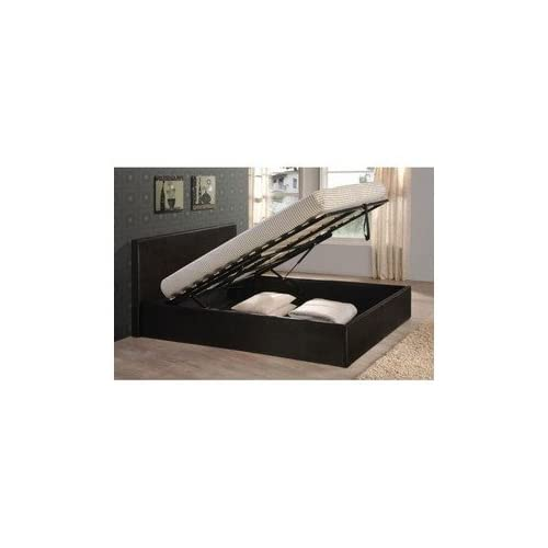 Black 4ft6 Double Storage Ottoman Gas Lift Up Bed Frame TIGERBEDS BRANDED PRODUCT All other sizes and colours...