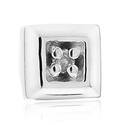 9ct White Gold Gents' Diamond Set Single Stud Earring
