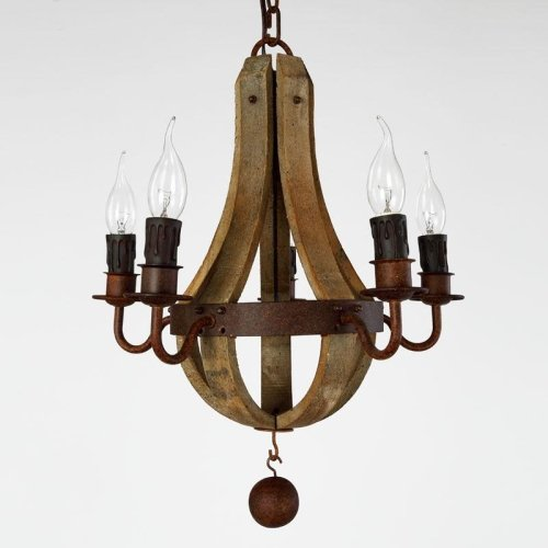 LightInTheBox Vintage Amercian Rustic Wooden Pendant Wine Barrel Chandelier L