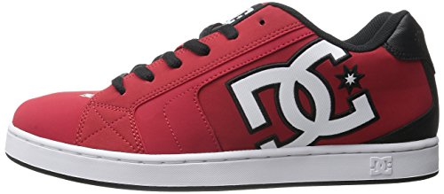DC Men's Net Skate Shoe, Red/Black/White, 7 M US