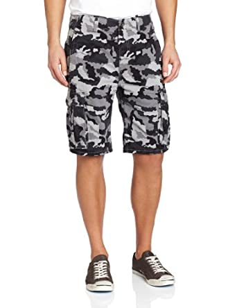 Levi's Men's Ace Cargo Twill Short Black Griddley Camo, Black Griddley Camo, 28W